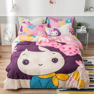 VIPLIFE高端全棉卡通四件套 纯棉床单被套床品套件
