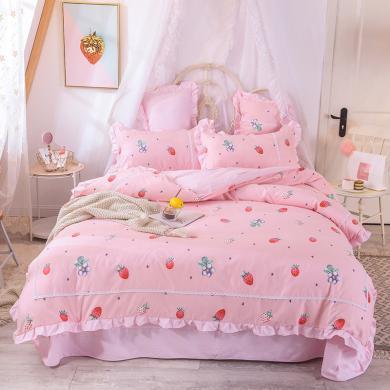 DREAM HOME 床品四件套小清新公主四件套床单四件套732393a