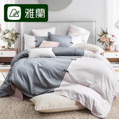 雅蘭 100%純棉四件套ins風全棉床單被罩少女心床上用品 歲月童話
