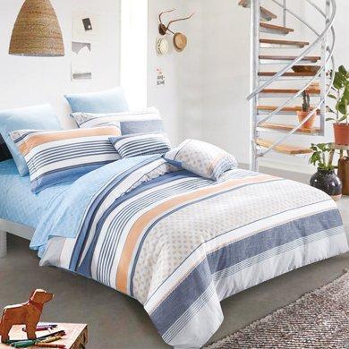 帝豪家紡 純棉五件套 雙人1.8m床上用品 冬季全棉床笠被套 歐式印花