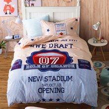 品臥家紡 全棉斜紋活性大版花兒童床上用品三件套 適用1.2M1.35M床