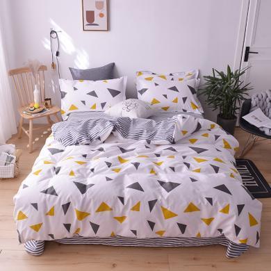 羽芯家纺 全棉学生三件套宿舍单人床上用品套件