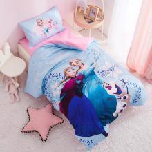 迪士尼家纺   2019新款幼儿园套件儿童床品全棉三件套/六件套 任意搭配 冰雪姐妹-蓝