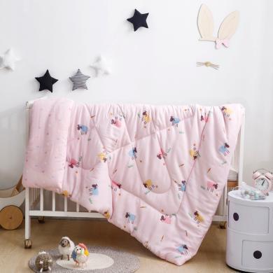 羽芯家紡 全棉雙層紗絲綿被嬰幼兒包被兒童被冬被春秋被芯