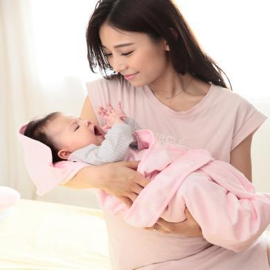 零听新生儿纯棉抱被婴幼儿春夏包巾秋冬加厚款包被