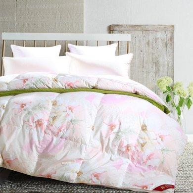蒂品生活(DIPINHOME)家紡  印花鴨絨被 90%羽絨保暖厚被 輕柔加厚冬被 冬季用被子