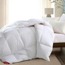 蒂品生活(DIPINHOME)家紡  95%臻絨鵝絨被  輕柔保暖  舒適透氣  不加襯