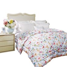 富安娜家纺 床上用品舒柔暖被子 1.5米/1.8米床保暖加厚 双人被芯 花开时光