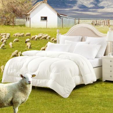 水星家纺 抗菌羊毛被加厚羊毛冬被 冬天被子被芯床上用品