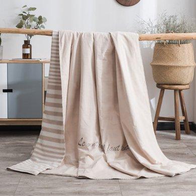 太湖雪100%桑蚕长丝 蚕丝夏凉被刺绣空调被 2018春夏新款 可水洗
