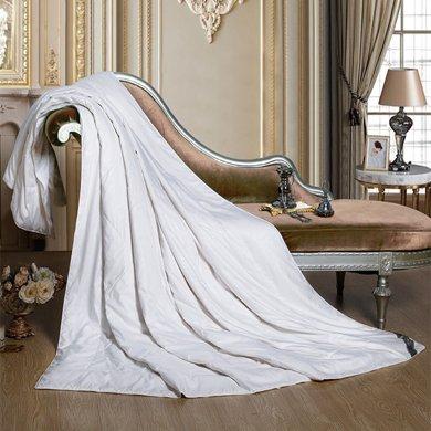 博洋家紡恬雅玫瑰蠶絲夏被  白、粉
