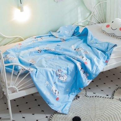 太湖雪儿童蚕丝被夏凉被 纯棉空调被100%桑蚕长丝午睡被 可水洗