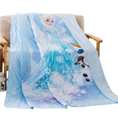 迪士尼家紡   全棉兒童學生夏涼被夏季薄被子可水洗純棉春秋被卡通單雙人空調被 薄被子