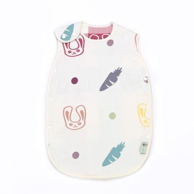 零听婴幼儿纯棉蘑菇睡袋夏季空调儿童防踢被