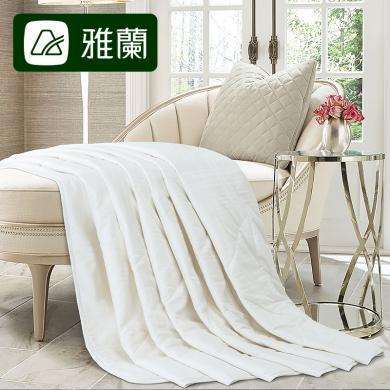 雅蘭家紡100%純羊毛夏被薄款1.8m床雙人純棉空調被1.5m床冷氣被芯 純羊毛夏被
