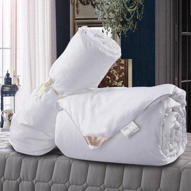 太湖雪蠶絲被100%桑蠶長絲子母被春秋被子冬被芯 凈重1+3斤沁柔型
