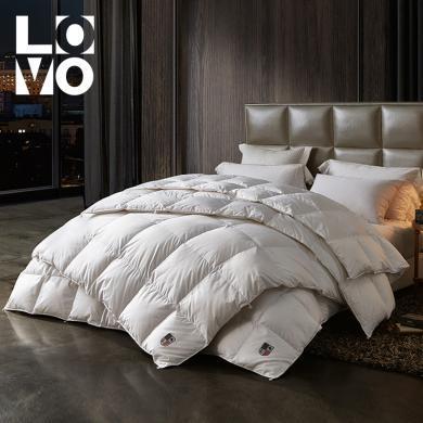 LOVO家紡羽絨冬被保暖輕盈烏克蘭進口鵝絨二合一鵝絨被
