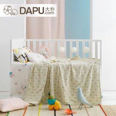 大樸嬰童老粗布蓋毯純棉寶寶毯子隨身空調毯午睡提花棉毯常規款