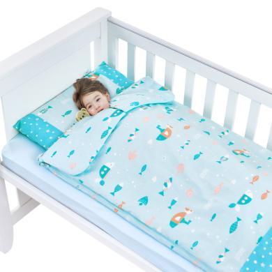 水星寶貝萌趣防踢被兒童棉被嬰兒床上用品 胭脂粉/雙膽款
