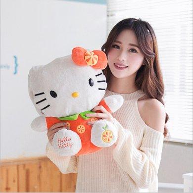 可愛Kitty貓熱水袋暖手寶彈力絨布材質電暖寶安全防爆
