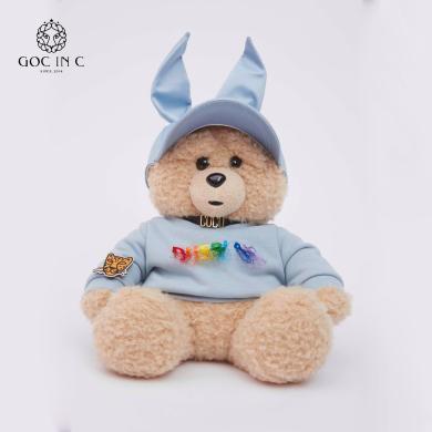 GOC IN C联名DUEPLAY 兔子熊热水袋暖手宝充电暖宝宝电热宝