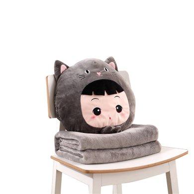 米卡多抱枕被子?#25509;?#38752;垫被沙发办公室折叠午休?#31354;?#22836;被汽车空调毯