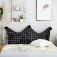 羽芯家纺  宝宝绒水晶绒皇冠靠垫可拆洗床头大靠背靠枕