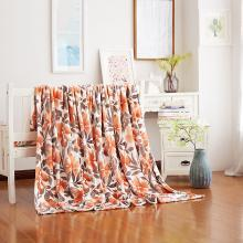 【恒源祥家紡】親膚柔軟毛毯 法蘭絨毯子 毛毯 雙人毯子 保暖舒適毯子 舒適毛毯(百花爭艷)