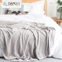 大樸色織條紋毛巾被夏季吸汗透氣夏被單人夏涼被毛巾毯午睡毯