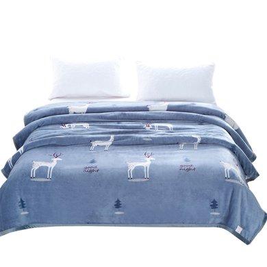 米卡多夏季空调毯珊瑚绒毯子单双人薄法兰绒毛?#22909;?#24062;被办公室空调午睡毯