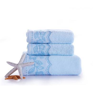 【恒源祥毛巾系列】 柔雅毛巾浴巾三件套 成人加大加厚纯棉毛巾浴巾 套装  毛巾浴巾三件套礼盒