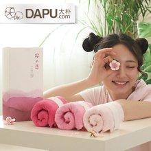 大樸[3條裝]阿瓦提日式毛巾洗臉面巾吸水柔軟萌妹子專屬禮盒
