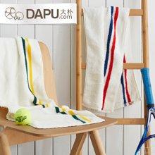 大樸阿瓦提運動毛巾加長加厚吸水條紋擦臉健身跑步吸汗面巾