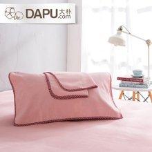 大樸[2條裝]純棉老粗布枕巾一對裝成人透氣四季枕巾加大加厚情侶