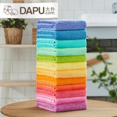 大樸12色新疆阿瓦提長絨棉毛巾純棉洗臉巾浴室家用柔軟吸水擦臉巾