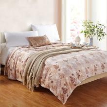 【恒源祥家紡】親膚柔軟毛毯 法蘭絨毯子 毛毯 雙人毯子 保暖舒適毯子 舒適毛毯 (富貴樹絨毯)