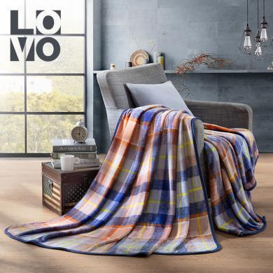 LOVO家纺秋冬保暖毛毯加厚加大绒毯法兰绒毯中式花卉秘密花园