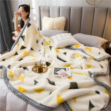 DREAM HOME 秋冬保暖毛毯 拉舍尔毛毯 秋冬毛毯盖毯 770456-1