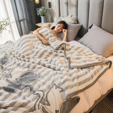 DREAM HOME 四季毛毯 法兰绒毛毯 盖毯 春秋毯 可作保暖床单用780854-2