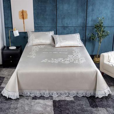 米卡多大版水洗冰絲席三件套1.8米床單款可機水洗席子1.5m夏季空調軟席
