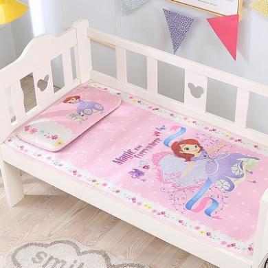 迪士尼家紡  嬰兒床涼席冰絲新生兒軟席寶寶兒童涼席夏季透氣幼兒園涼席空調席