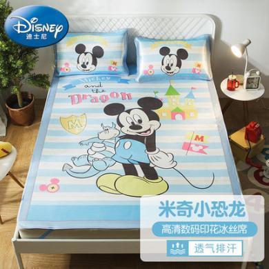 迪士尼家紡    涼席兒童學生宿舍單人卡通涼席夏季兒童冰絲空調席
