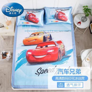 迪士尼家紡   兒童涼席套件二三件套卡通 夏季折疊可水席冰絲席軟席空調席