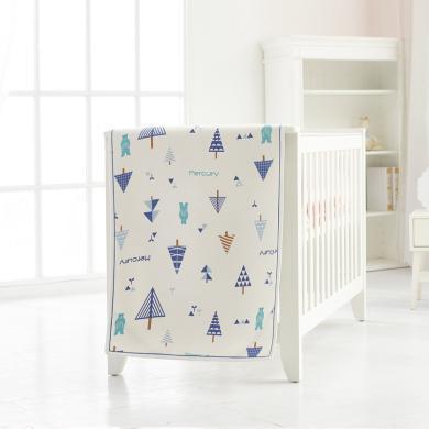 水星寶貝Baby夏韻涼席可折疊涼席嬰童夏季空調軟席子冰絲涼席