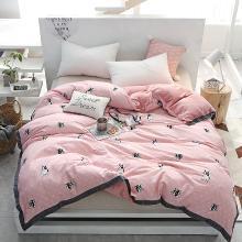 DREAM HOME 床品单件被套单人被罩双人工艺款A棉B绒被套单件可爱卡通587120-3