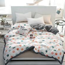 DREAM HOME 床品单件被套单人被罩双人工艺款A棉B绒被套单件可爱卡通587120-2