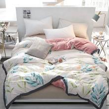 DREAM HOME 床品单件被套单人被罩双人工艺款A棉B绒被套单件花鸟系587120-4