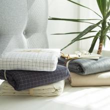 DREAM HOME 床品單件全棉被套水洗棉被套單人被罩雙人被套單件小格子118523-2