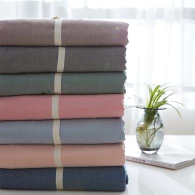 DREAM HOME 床品單件全棉被套水洗棉被套單人被罩雙人被套單件純色118523-1