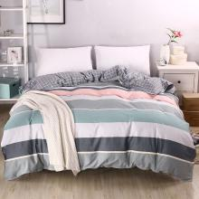 DREAM HOME 床品单件被套单人被罩双人床全棉被套单件单品纯棉被套简约条纹269233-3